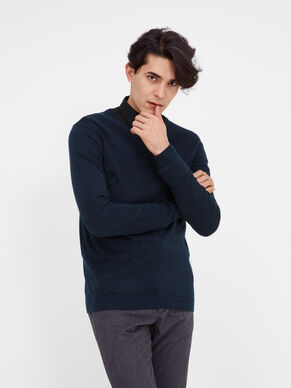 SILK BLEND V-NECK KNITTED PULLOVER