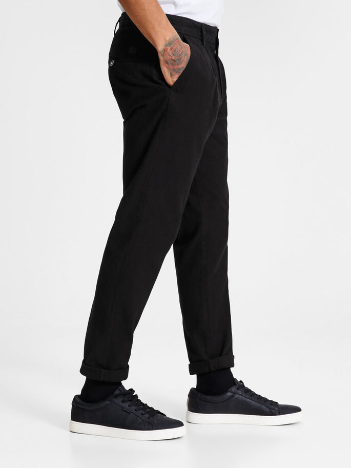 ACE MILTON AKM 399 BLACK CHINOS, Black, large