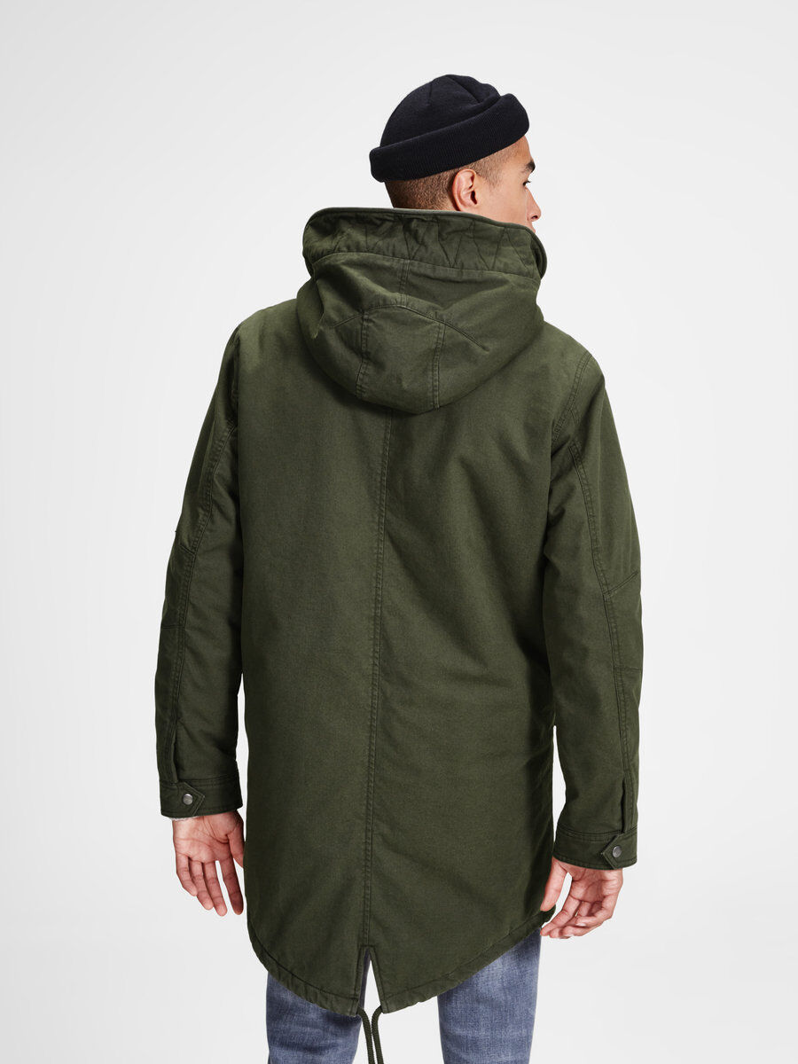 Originals Parka With Fishtail - Forest night Jack & Jones Free Shipping Popular vIAvkLmd