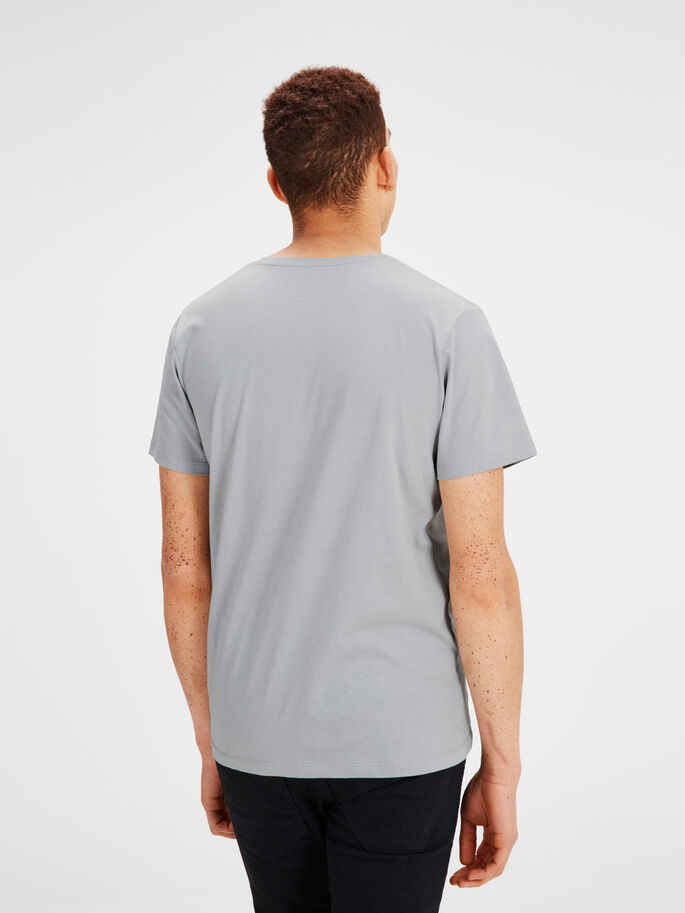 PRINTET T-SHIRT, Mirage Gray, large