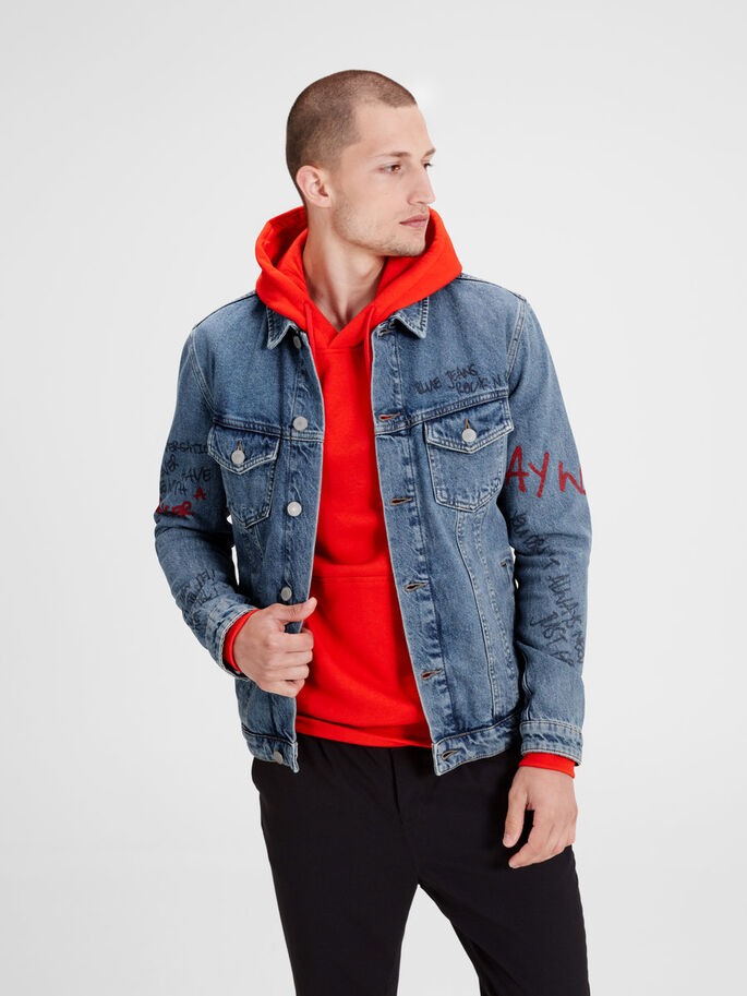 ALVIN JACKET JOS 300 JEANSJACKE, Blue Denim, large