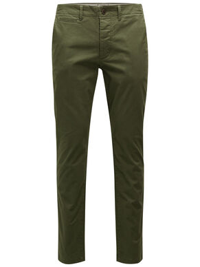 MARCO OLIJFKLEURIGE SLIM FIT CHINO