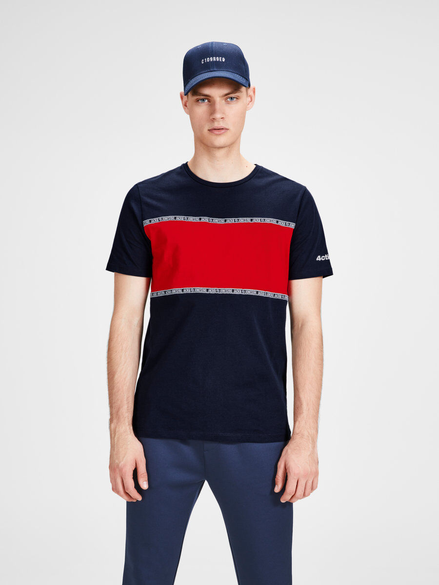 Jack & Jones GUMMIPRINT - Camiseta print - sky captain CVTGZblx
