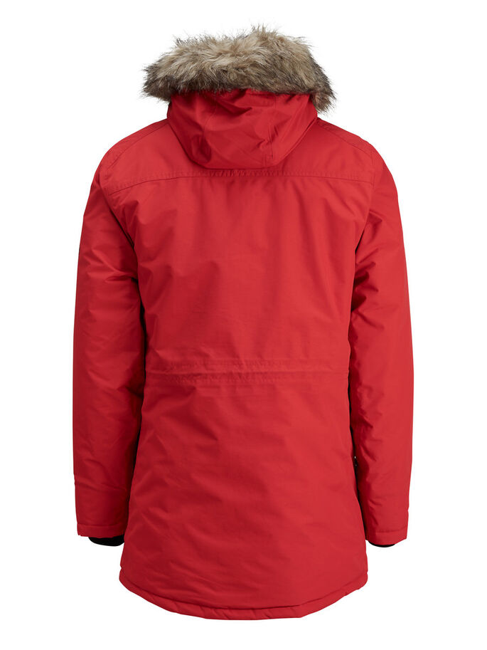 IMPERMEABLE PARKA, Chinese Red, large
