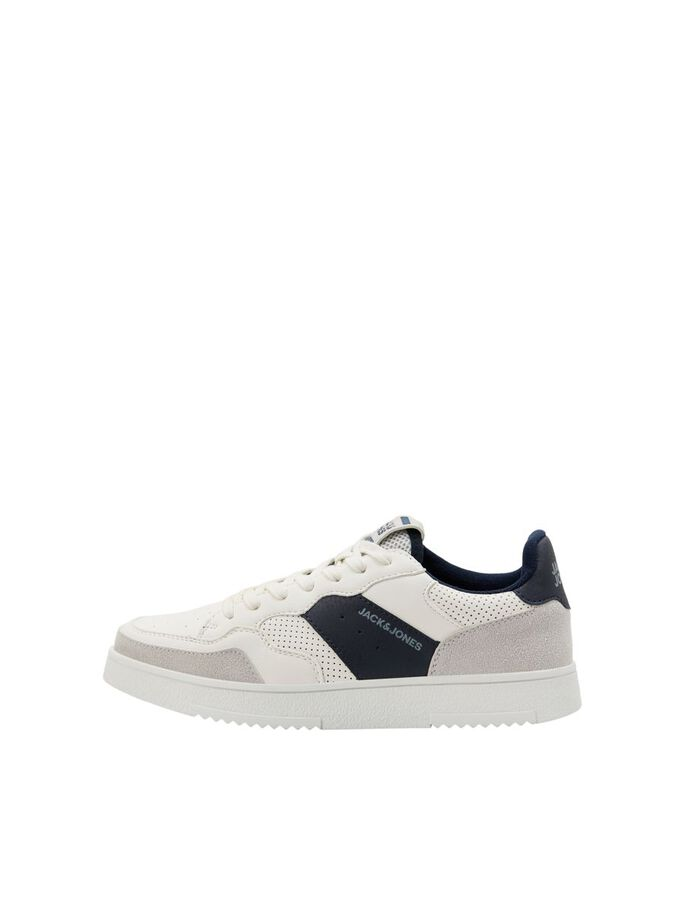 BOYS FAUX LEATHER MESH SNEAKERS, Navy Blazer, large