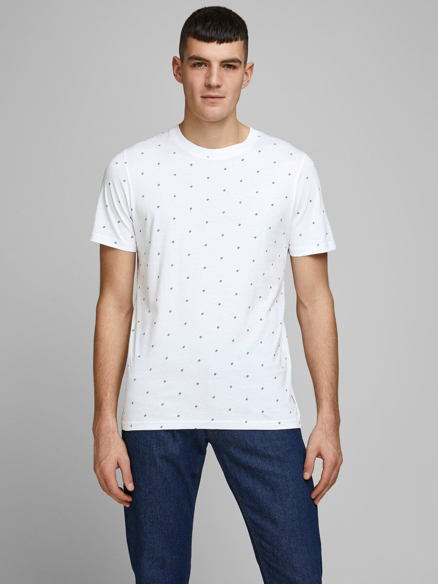 Jack & Jones T-shirts print - white melange