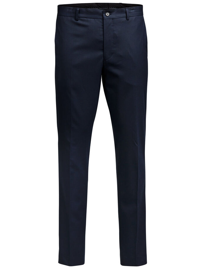 SLIM FIT SUIT PANTS, Dark Navy, large