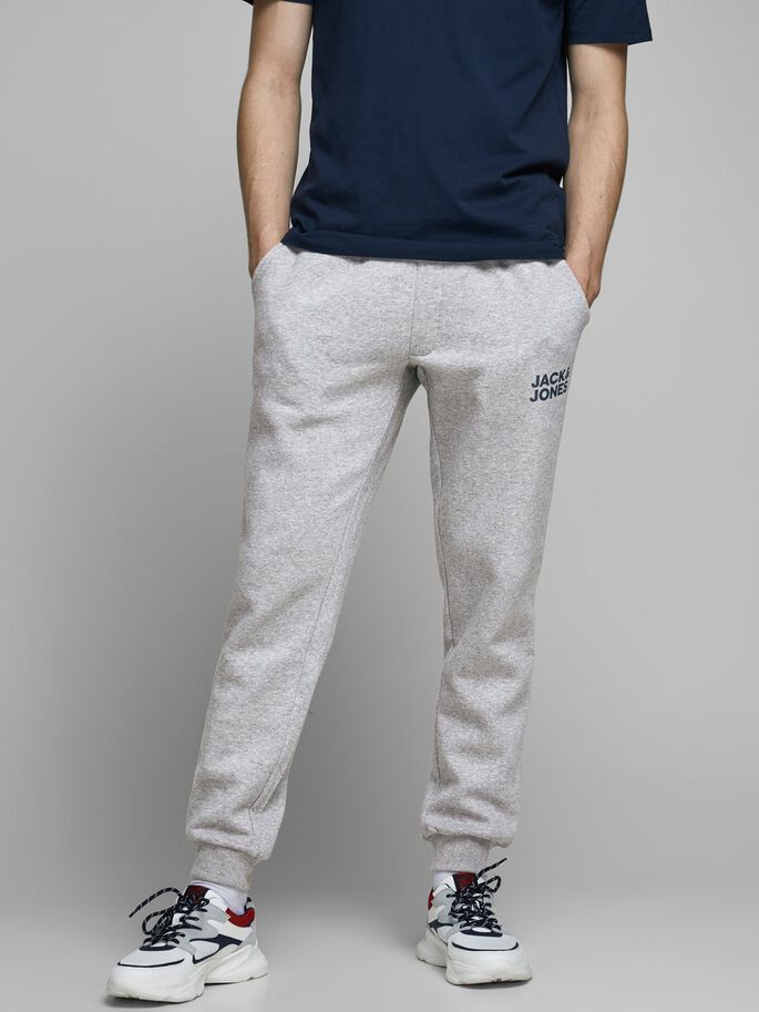 GORDON NEW SOFT SWEATPANTS, Light Grey Melange, large