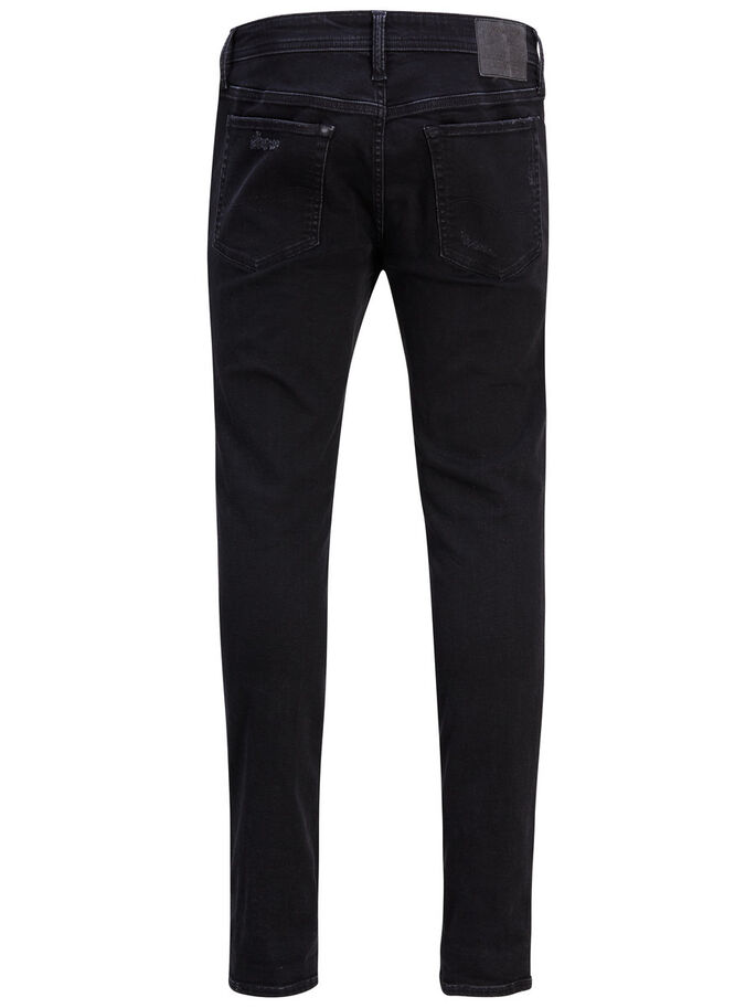 LIAM ORIGINAL AM 502 SKINNY FIT JEANS, Black Denim, large