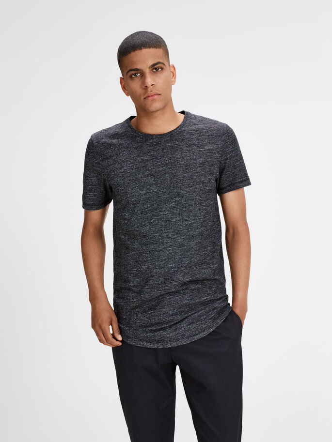 LONG FIT T-SHIRT, Black, large