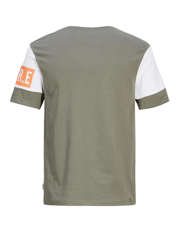 GRAFISK T-SHIRT, Dusty Olive, large