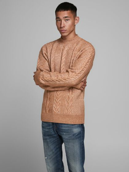 RECYCLED POLYESTER BLEND KNITTED PULLOVER