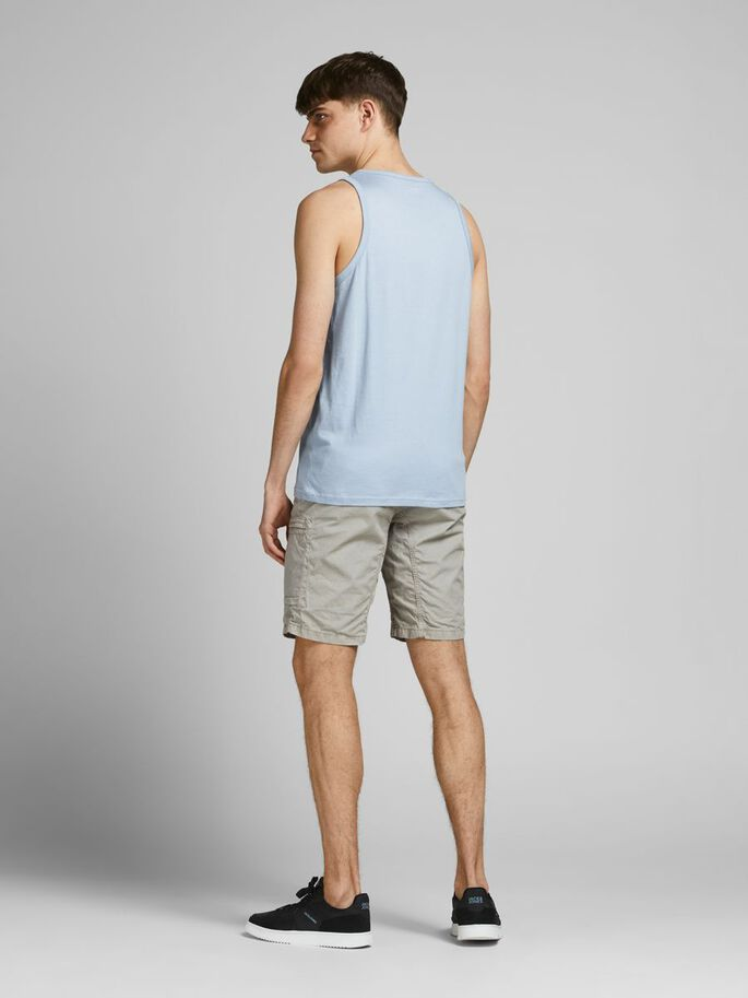 REGULAR FIT LOGO TANK TOP, Dusty Blue, large