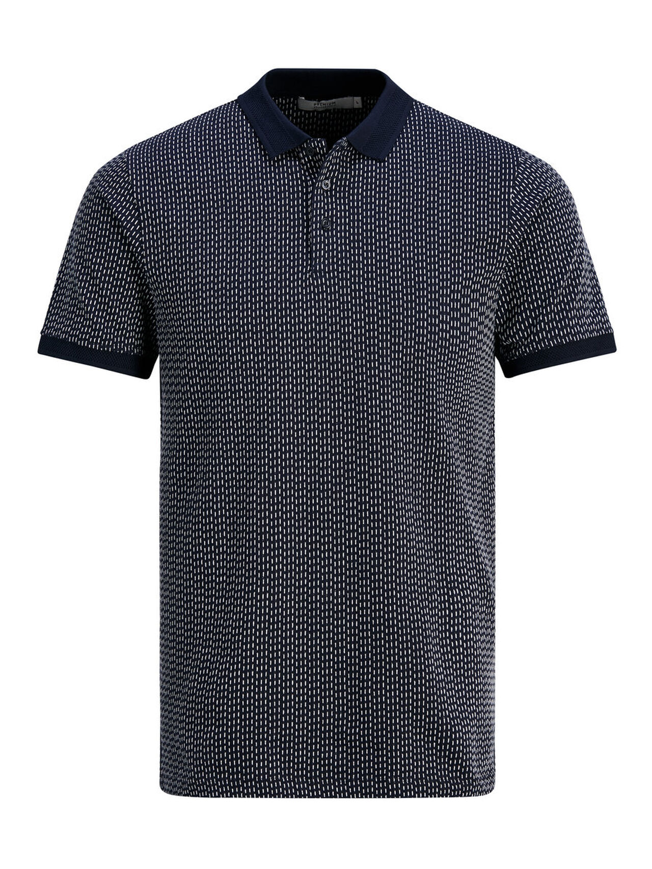 JACK & JONES Slim Fit Poloshirt Heren Blauw thumbnail