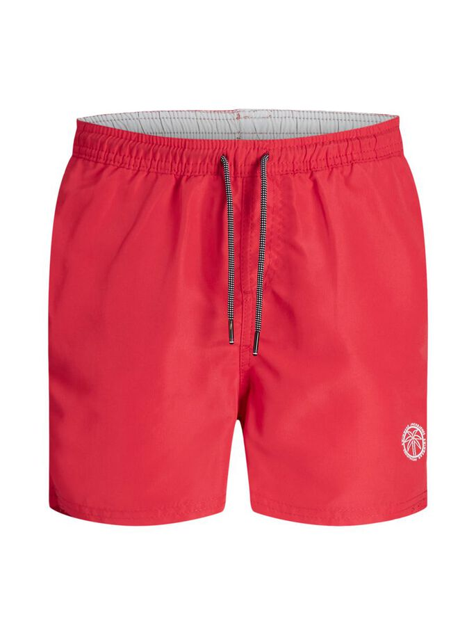 JUNGEN RECYCELTER POLYESTER BADESHORTS, Flame Scarlet, large