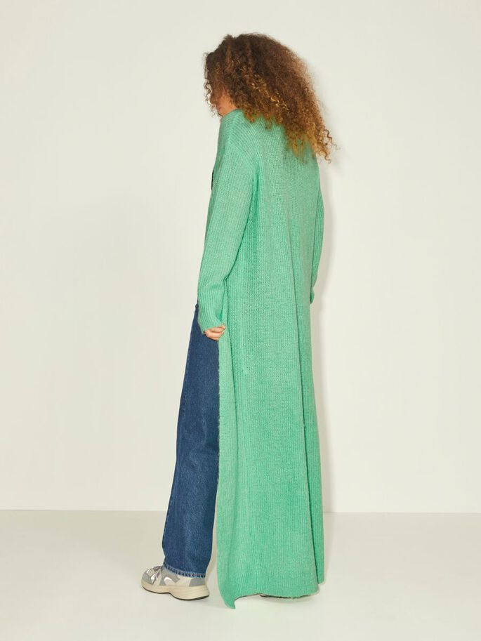 JXEA FLUFFY LONG KNITTED CARDIGAN, Absinthe Green, large