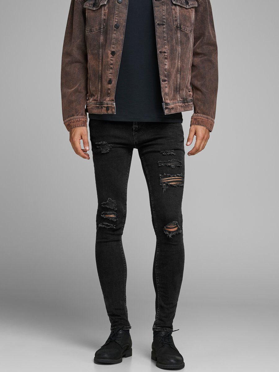 Intelligence Jeans In Skinny Fit Ripped Black Denim - Black 502 Jack & Jones Cheap Sale Perfect Discount Amazon Deals Release Dates Cheap Online Outlet Best Store To Get JwVJU