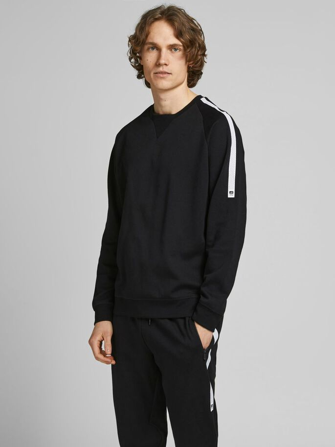 PERFORMANCE SWEATSHIRT, Black, large