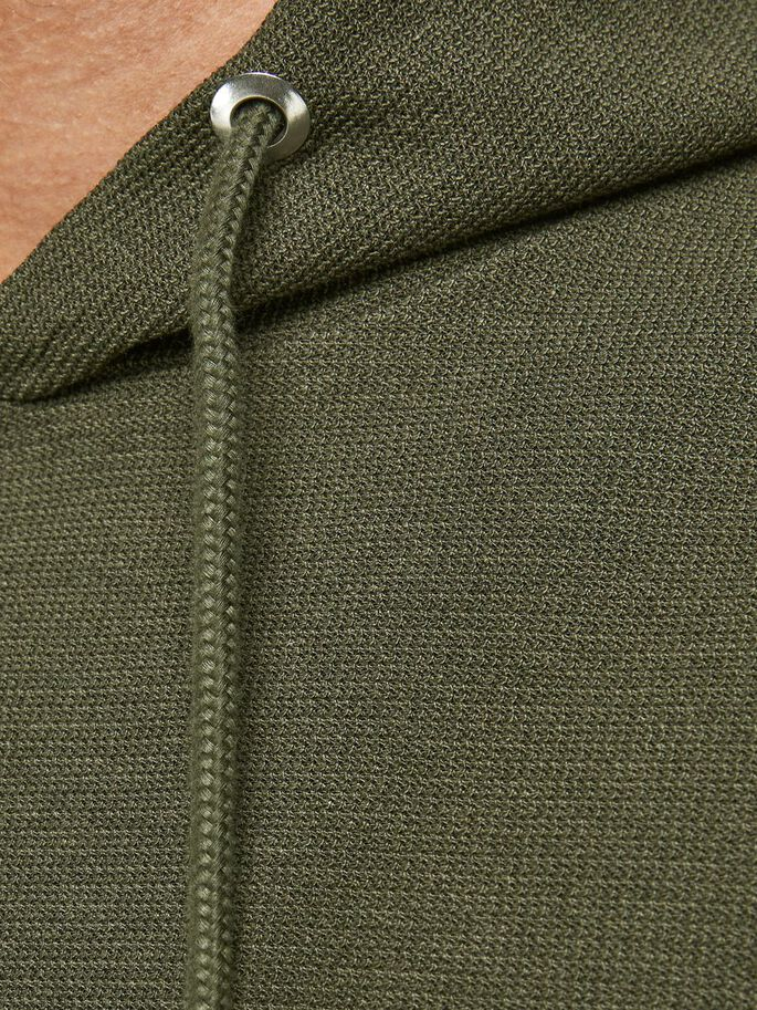 PIQUE SWEAT HOODIE, Forest Night, large