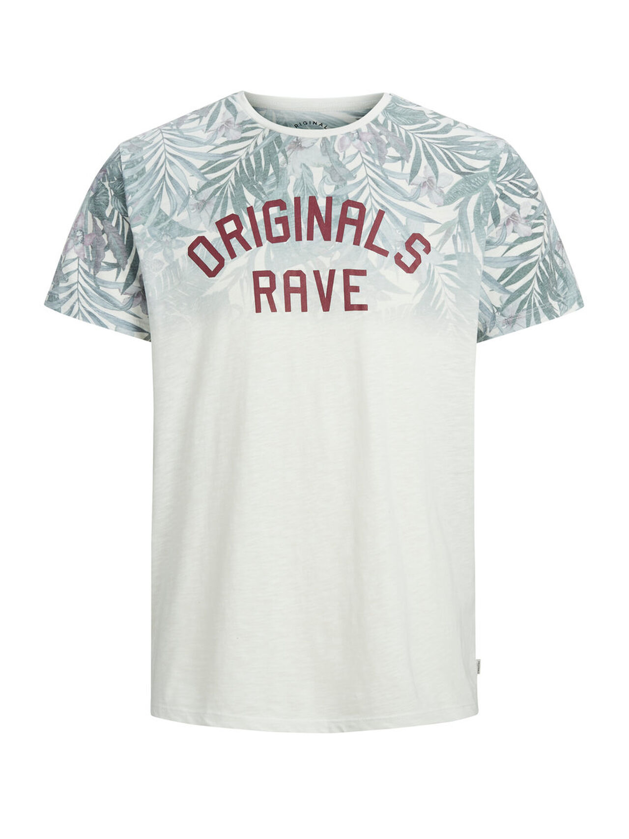 JACK & JONES Floral Print T-shirt Men White