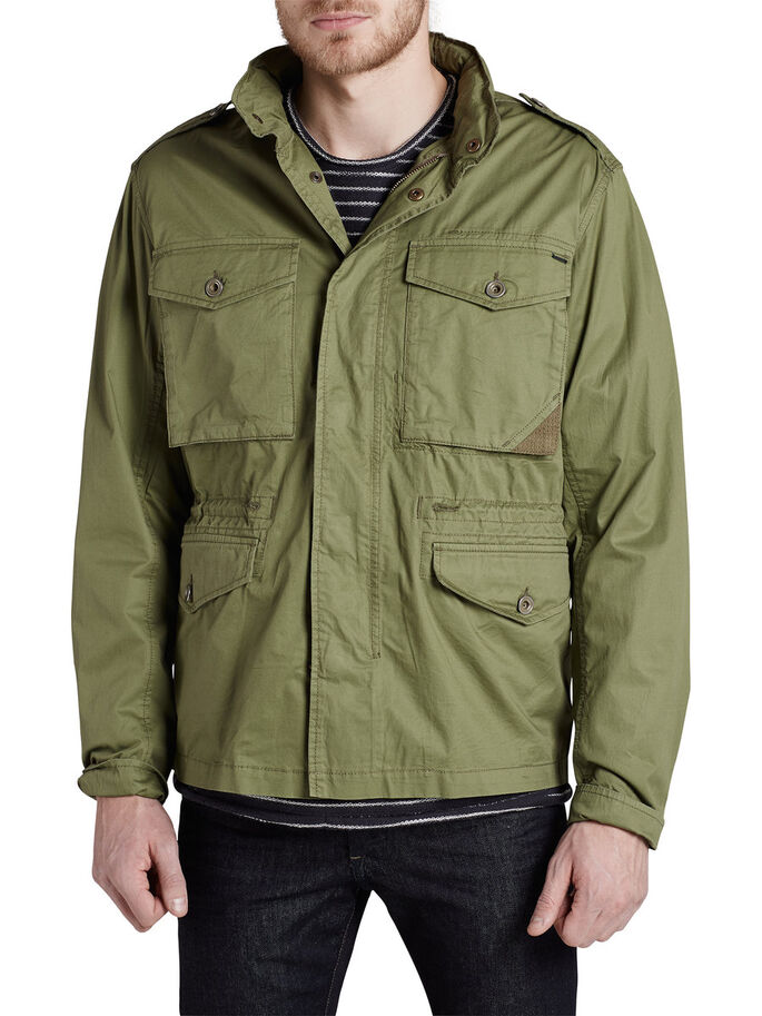 MILITAIRE AUTHENTIQUE VESTE, Olivine, large
