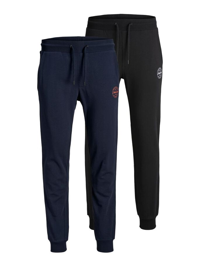 2-PACK GORDON SHARK SWEATPANTS, Navy Blazer, large