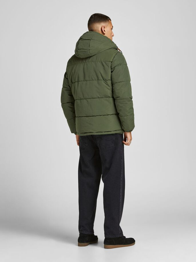 TEDDY-HOODED PUFFER JACKET, Forest Night, large