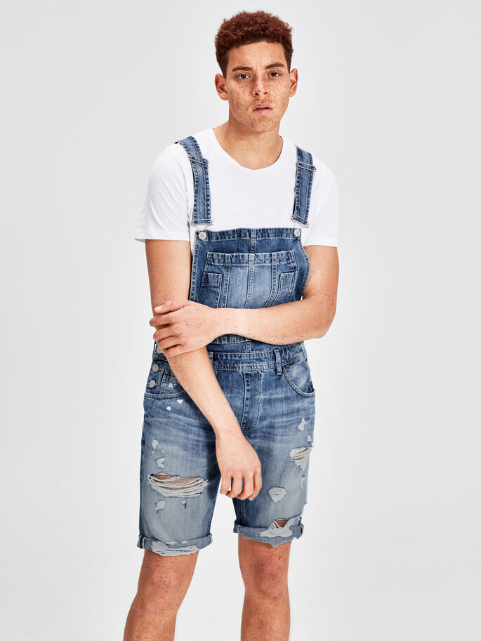 RICK JJ 049 DUNGAREES, Blue Denim, large