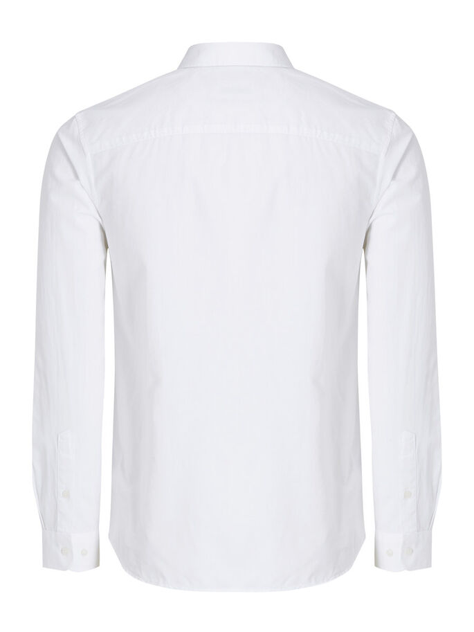 BUTTON-DOWN OVERHEMD MET LANGE MOUWEN, White, large