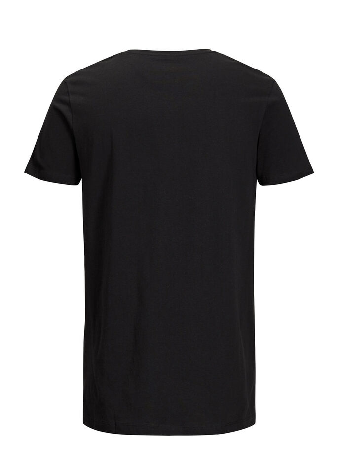 3 PACK ORGANIC BASIC T-SHIRT, Black, large