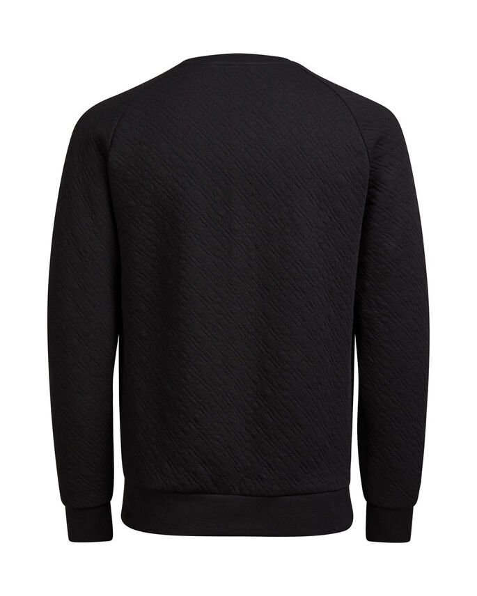 GESTEPPTES SWEATSHIRT, Black, large