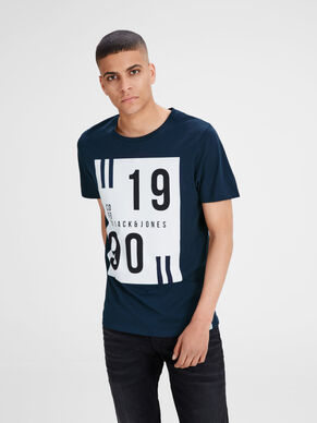 BEDRUCKTES, IN REGULAR FIT-GESCHNITTENES T-SHIRT