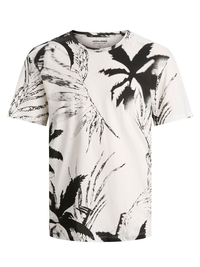 PALMENPRINT T-SHIRT, Cloud Dancer, large