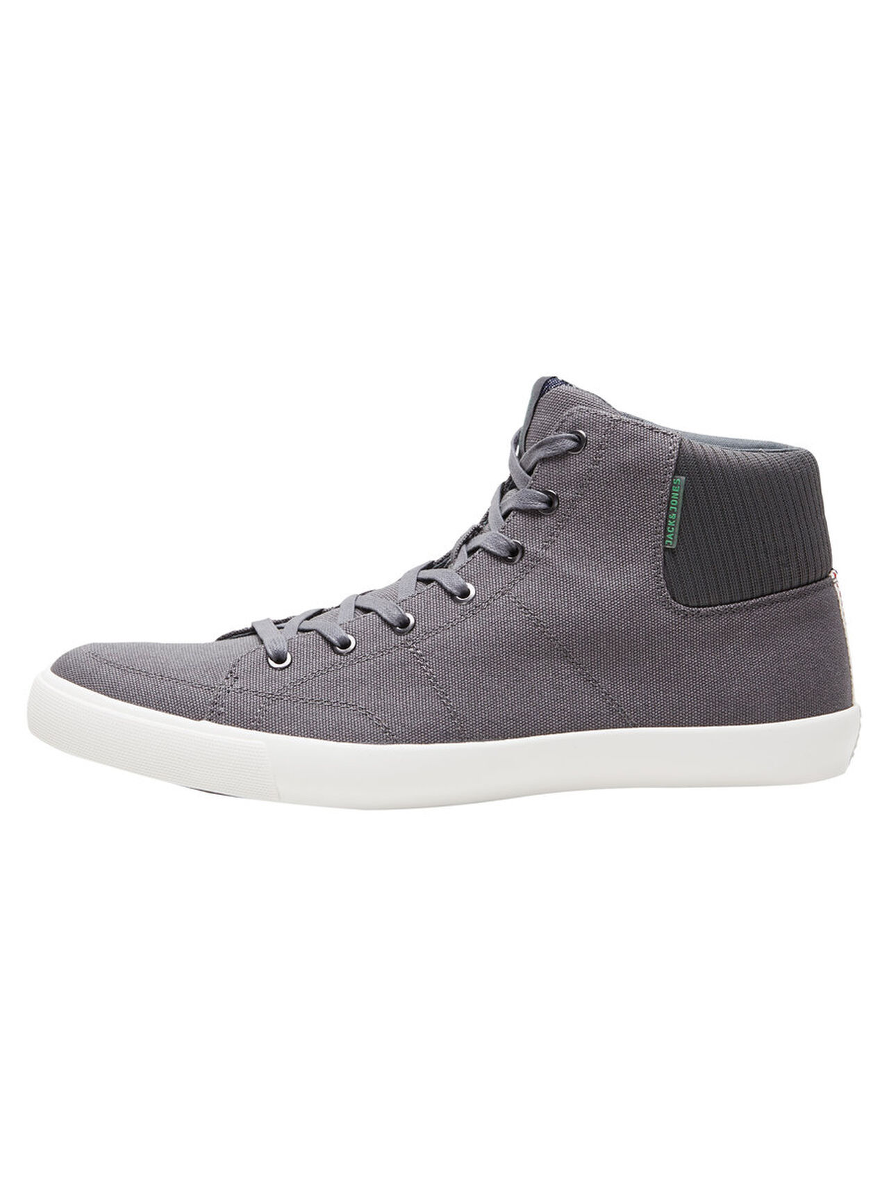 JACK & JONES Canvas Sneakers Heren Grijs thumbnail