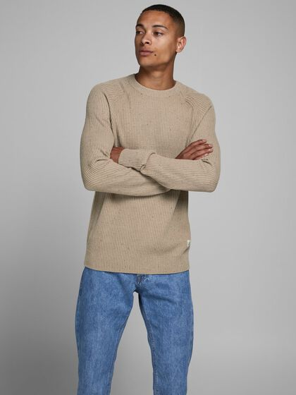 TEXTURED KNITTED PULLOVER