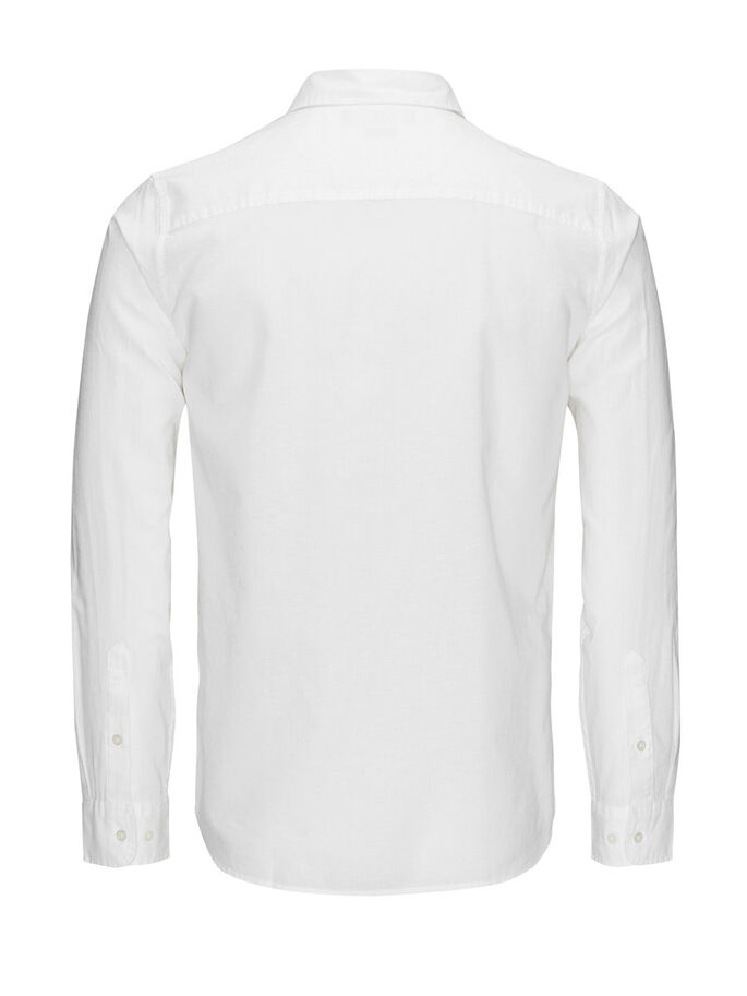 LINNEBLANDAD SPREAD-KRAGEPRYDD BUSINESS SKJORTA, White, large