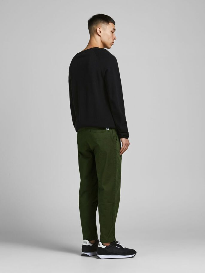 BILL RICO CROPPED AKM 000 TROUSERS, Forest Night, large