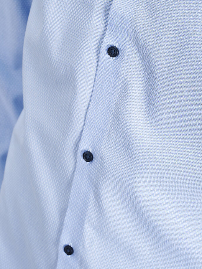 SPREAD COLLAR LONG SLEEVED SHIRT, Cashmere Blue, large