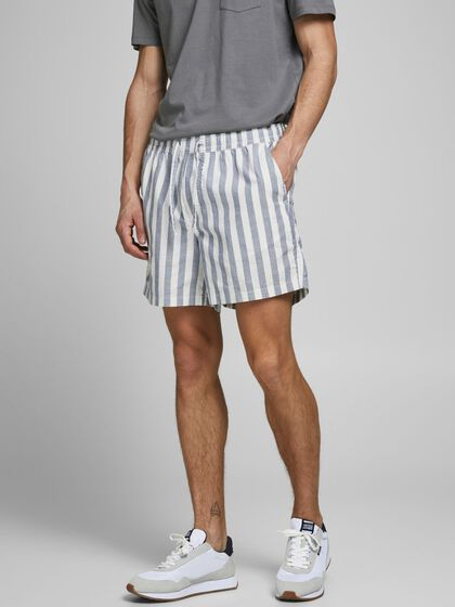 STRIPED JOGGER SHORTS