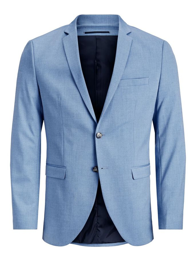 COUPE SUPER SLIM BLAZER, Chambray Blue, large