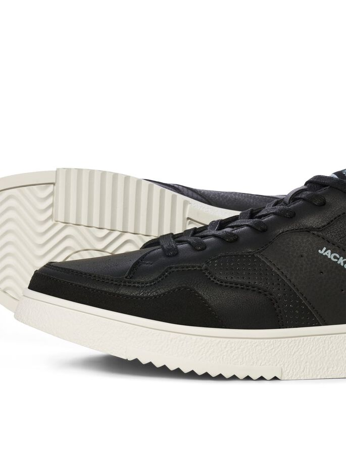 FAUX LEATHER SNEAKERS, Anthracite, large