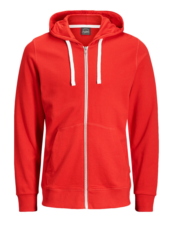 CASUAL SWEAT-SHIRT, Fiery Red, large