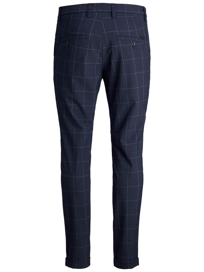 MARCO CONNOR AKM CHECKED CHINOS, Total Eclipse, large