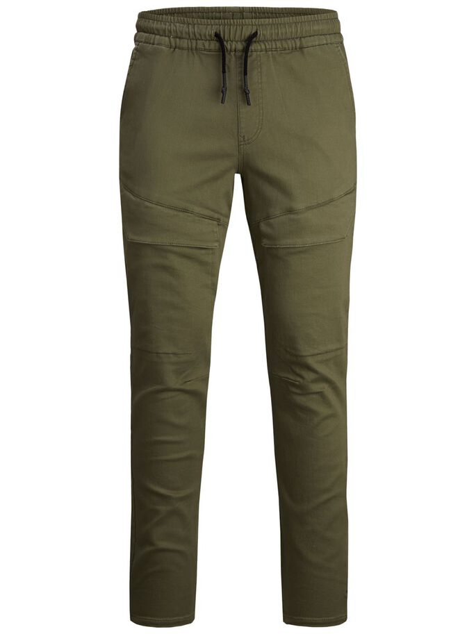 BOYS LOOPBACK CARGO TROUSERS, Dusty Olive, large