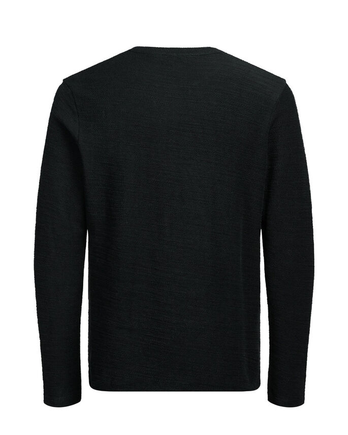 BOUCLETTE SUR L'ENVERS SWEAT-SHIRT, Black, large