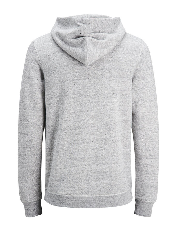 CASUAL SWEAT-SHIRT, Light Grey Melange, large