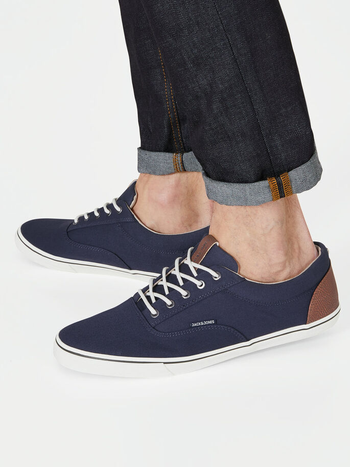 CANVAS SNEAKERS, Navy Blazer, large 9449e7d1f908