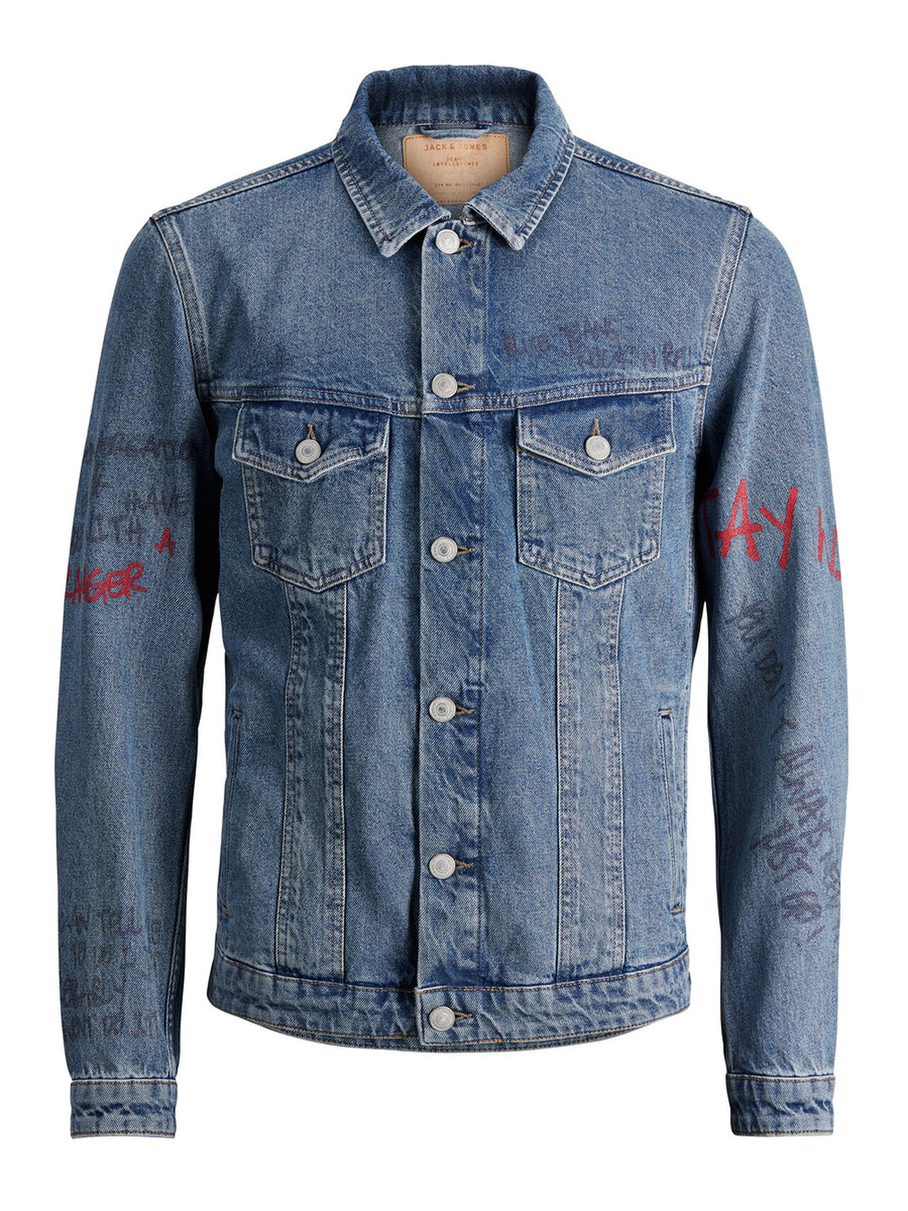 JACK & JONES Alvin Jacket Jos 300 Denim Jacket Men Blue