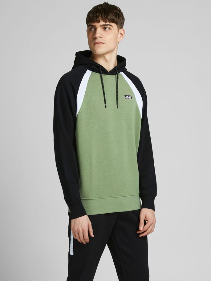 SWEAT HOODIE, Oil Green, large
