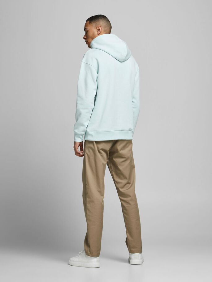 LOOPBACK RELAXED FIT HOODIE, Pale Blue, large